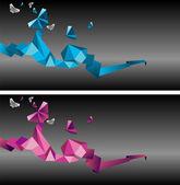 Origami butterflies — Stock Vector