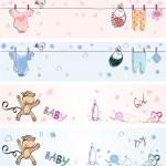 Babies banners — Stock Vector #16317535