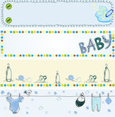 Babies banners — Stock Vector