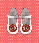 Zapatos de moda. — Vector de stock