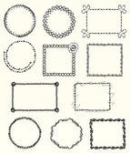 Knitted Frames — Stock Vector