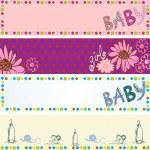 Babies banners — Stock Vector #22437597