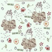 Doodle seamless pattern — Stock Vector