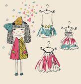 Fashionable girl — Stock Vector