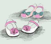 Zapatos de moda — Vector de stock