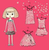 Garota fashion — Vetorial Stock