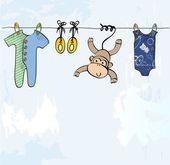 Spädbarn ram — Stockvektor