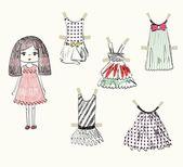 Papper kläder — Stockvektor