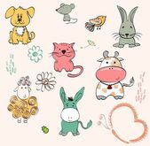 Baby animals — Vector de stock