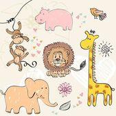 Baby animals — Stock Vector