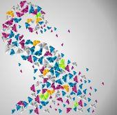 Papillon de papier — Vecteur