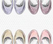 Módní boty. — Stock vektor