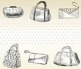 Fashion bags. — Stock Vector
