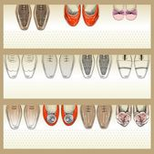 Fashion  shoes — Stock Vector