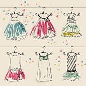 Beautiful clothes — Stock Vector