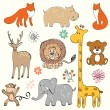Baby animals — Stock Vector