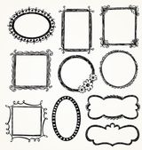 Doodle Frames — Cтоковый вектор