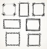 Doodle marcos — Vector de stock