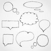 Talking cloud — Stock Vector