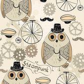 Steampunk owl — Stock Vector