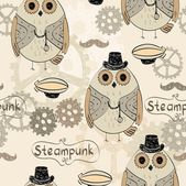 Steampunk owl — Stock Vector