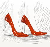 Fashion shoe — Stock Vector