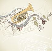 Musical tuba — Stock Vector