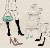 Shopping — Vettoriale Stock