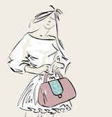 Fashion — Stok Vektör