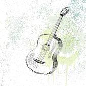 Gitar — Stok Vektör