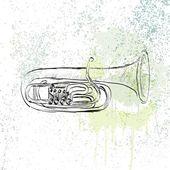 Musical tuba — Stock Vector