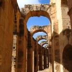 El Jem amphitheatre in Tunisia — Stock Photo
