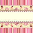 Vector de stock : Vintage romantic background. Pink colors. Valentine day