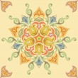 Seamless floral pattern in pastel colors. Mandala — Stock Vector