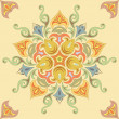 Stock Vector: Seamless floral pattern in pastel colors. Mandala