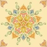 Seamless floral pattern in pastel colors. Mandala — Stock Vector