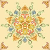 Pastel renklerde sorunsuz çiçek desenli. mandala — Stok Vektör