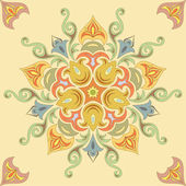 Seamless floral pattern in pastel colors. Mandala — Stok Vektör