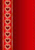 Valentine vertical background with a ribbon — Stock Vector