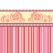 Vintage romantic background. Pink colors. Valentine day — Stock Vector