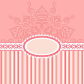 Romantic background with pattern and label. pink — Stock Photo