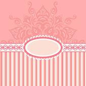 Sfondo romantico con pattern ed etichetta. rosa — Foto Stock