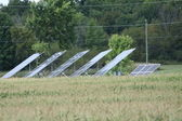 Solar Panels in Field — 图库照片