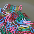 Paper Clips-Colored - Stock Photo