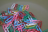Paper Clips-Colored — Stock Photo