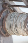 Wire Rope on Reel — Stock Photo
