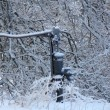 Ice and Snow Covered Water Pump — Stock Photo