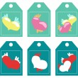 Labels. hearts — Stock Vector