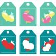 Labels. hearts — Stock Vector
