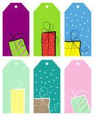 Etiketleri. hediyeleri — Stok Vektör